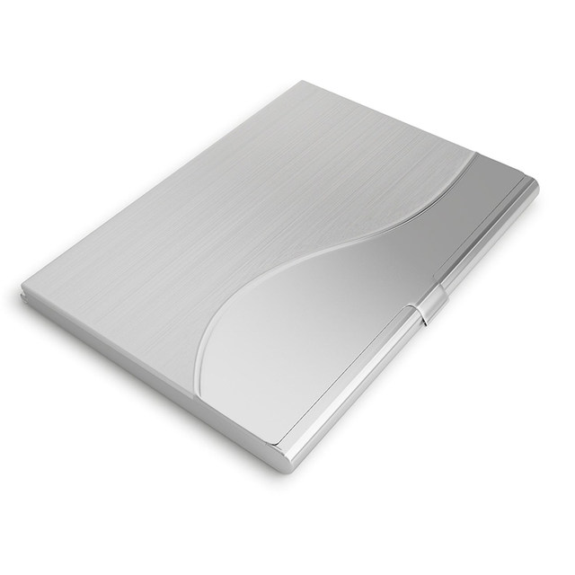 Online shop business card holder stainless steel card wallet id business card holder stainless steel card wallet id credit card holder women men waterproof card protector metal name cardholder colourmoves