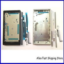 Orignal New Front Middle Frame Bezel Plate Chassis Housing For Sony Xperia M2 S50h Replacements Mobile Phone Parts ,Black /White