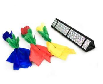 Flower Triangle Magic Tricks Flower Appearing From Tube Magia Magician Stage Illusion Gimmick Props accessories Comedy