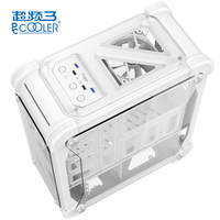 PCCOOLER Blizzard Computer Case Desktop Acrylic Transparent Colorful Box ATX Computer Box Simple Gaming Computer Case Chassis
