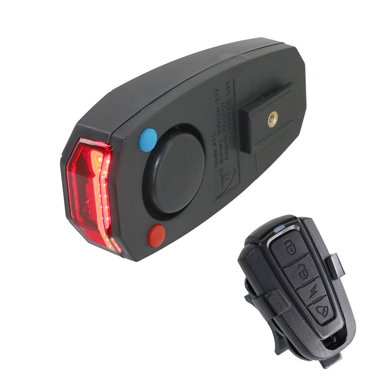 USB Bicycle Bell Ligh Bike light Alarm Cycling Taillight horn LED Wireless Anti-theft Remote Control bike Accessories(China)