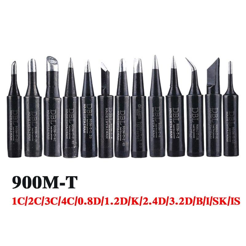 13pcs/lot Lead-free Soldering Iron Tips Solder Tips 900M-T-K 900M-T-I 900M-T-1C/2C/3C/4C For 936 Soldering Station