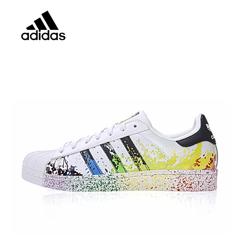 Original New Arrival Official Adidas Clover Man and woman Skateboard Shoes Classic breathable shoes outdoor anti-slip D70351 цена
