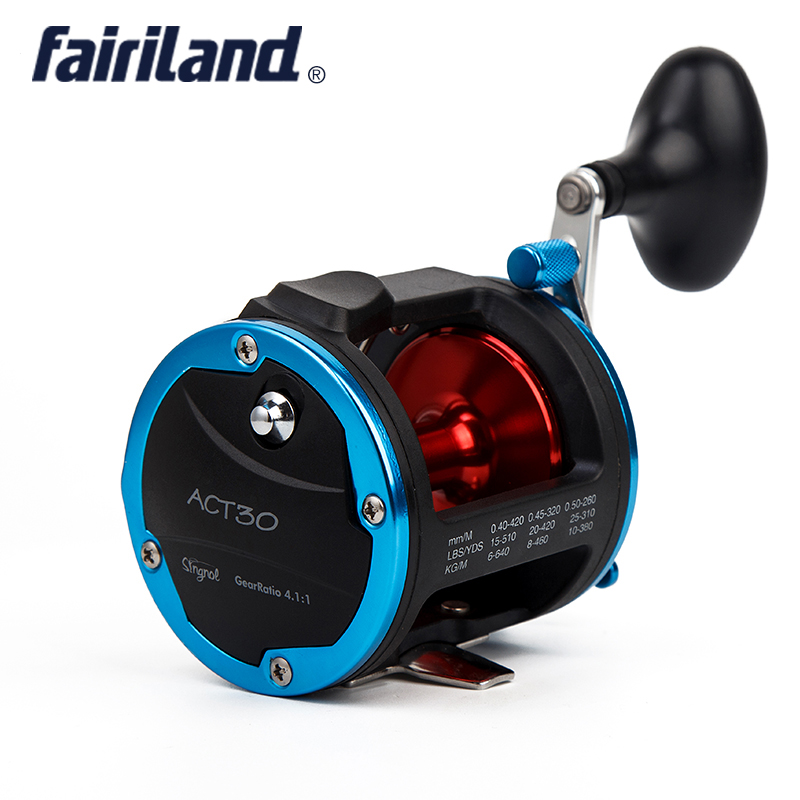 4BB RIGHT HAND 4.1:1 Fairiland Drum Trolling Reel 18Kg Drag Power Boat Fishing Reel 2 Colors (30A/B) Avail. Saltwater/Freshwater hellboy giant right hand anung un rama right hand of doom arms hellboy animated cosplay weapon resin collectible model toy w257