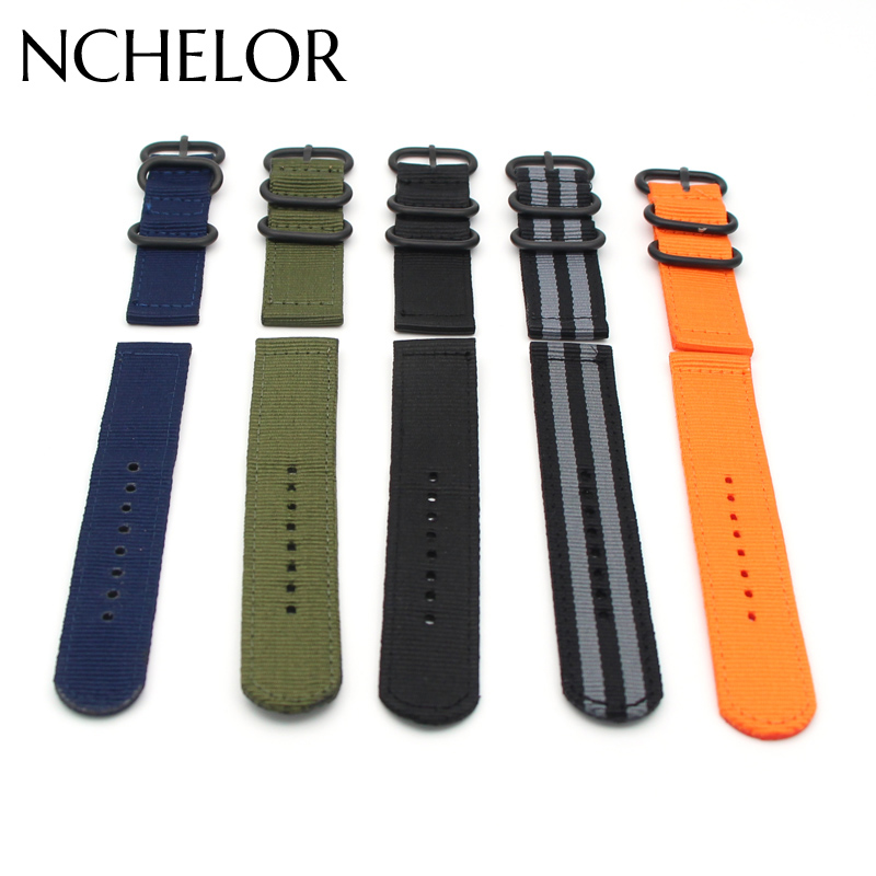 Nylon Watch Band Luxury Nylon Strap 3 Ring Watch Replacement Band For Garmin Fenix 3 Black/Green 2017 Hot Sale Fashion Solid 22mm woven nylon strap replacement quick release easy fit band for garmin fenix 5 forerunner935 approach s60