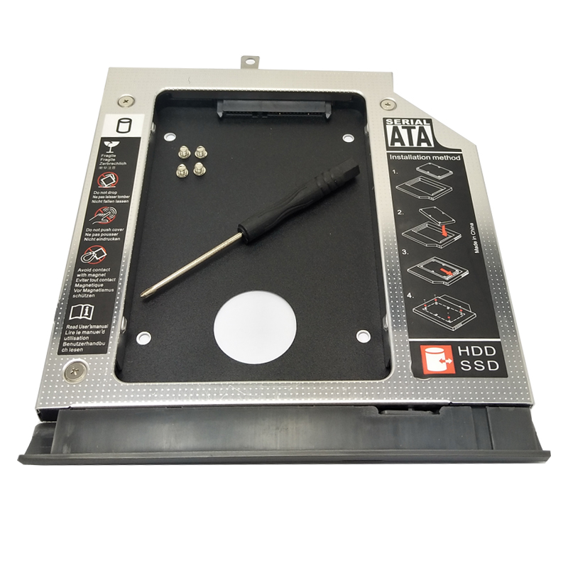 WZSM al por mayor venta al por mayor nuevo 2nd SATA HDD Disco Duro Caddy para Lenovo ideapad 320, 520, 330, 330-14/15 /17