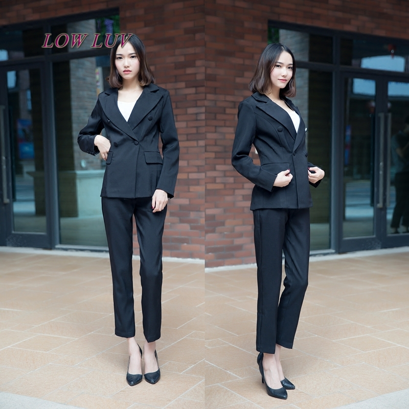 2017 New Year womens suits suit fashion simple color suit office lady jacket + pants 2 pieces / sets