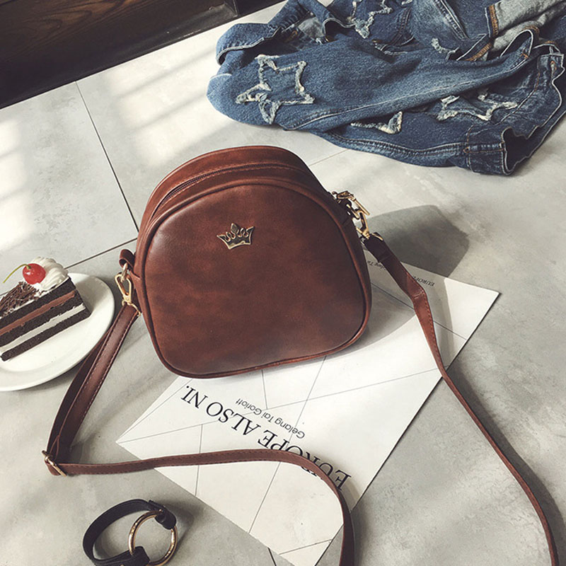 Women PU Leather Shoulder Bag Ipod Case High Quality Messenger Crossbody Bags Female Mini phone bag Casual Solid Shell Style New