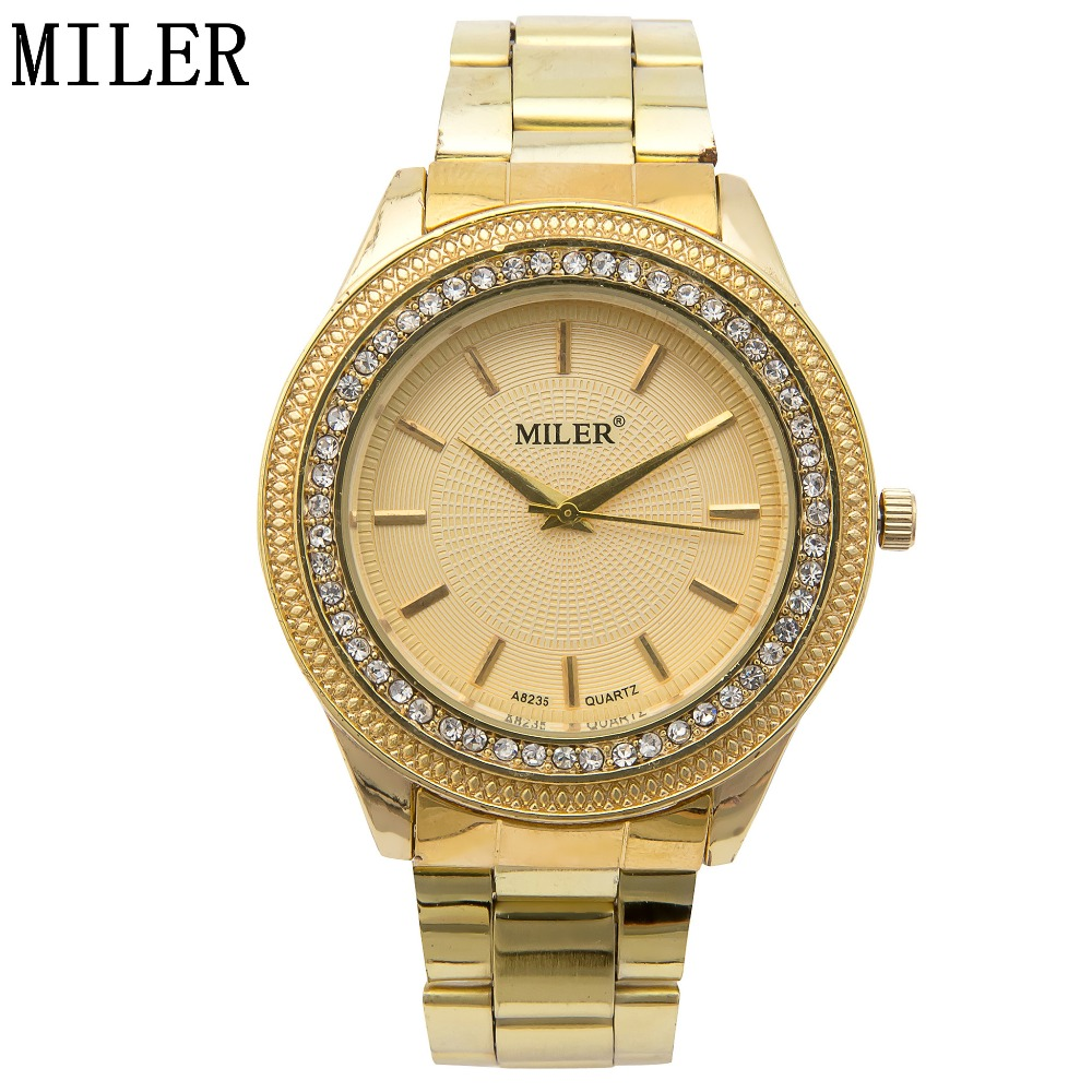 New Brand Women Watch Luxury Golden Steel Rhinestone Quartz Watch High Quality Ladies Dress Watch relogio feminino
