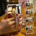KISSCASE Gemstone Bracelet Diamond-Jewelry Cover For iPhone 7 6 6s Plus Luxury Mirror Case Gold Plating Case For iPhone 6 6s 7