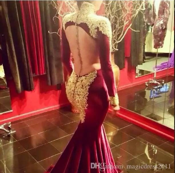 ec06bfd009 US $149.0 |Aliexpress.com : Buy vestido de festa longo de luxo Sexy Plus  Size Prom Dresses Black Mermaid Long Sleeves Women Evening Party Dress from  ...