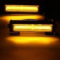 12V 36W COB LED Strobe Light Bar Car Hazard Warning Lamp Flashing Lamp Amber Yellow Flashing Lamp Warning Flash Strobe Light