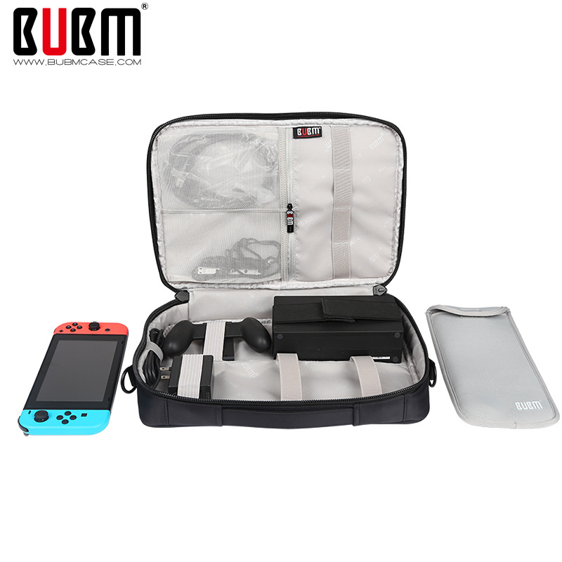 BUBM video game console cases for NS switch NX Video Player  carrying protection playstation Digital Storage Bag eva protective hard case shell travel carrying game console storage bag holder pouch for nintend switch console with hand strap