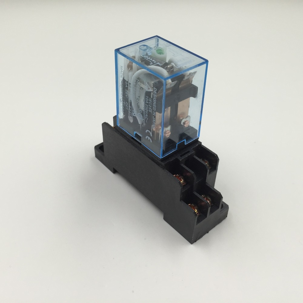 LY2NJ AC 200/220 В катушка 2NO 2NC 8Pin электромагнитное реле w PTF08A разъем