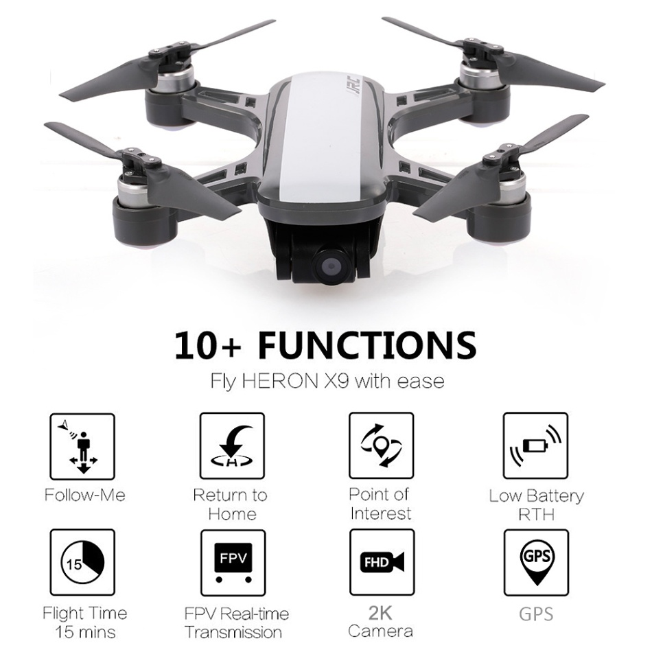 Jjrc x9 헤론 gps 5g wifi fpv (2 k 카메라 포함) brushless optical flow positioning 나를 따르십시오 고도 rc drone rtf quadcopter-에서RC 헬리콥터부터 완구 & 취미 의  그룹 1