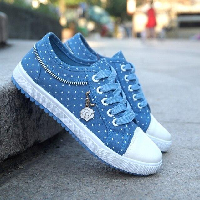 Blue Dot Tennis Shoes 1