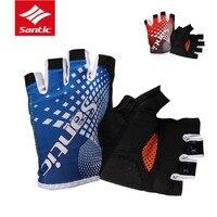 Santic Men S Summer Cycling Gloves Short Half Finger Cool Feeling Sun Protective Cycling Bike Protector