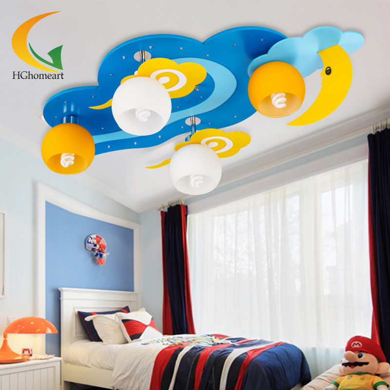 cheap cloudsmoon with boy and girl childrens bedroom ceiling lights led room lighting cartoon creative cheap bedroom lighting