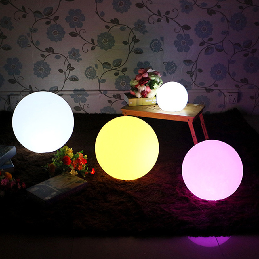 LED Rechargeable Globe Ball Lamp Remote Control Home Party Bar Christmas Holiday Indoor Outdoor Garden Swimming Pool Lighting 30cm color changing remote control party pool magic waterproof rgb night lighting lamp globe