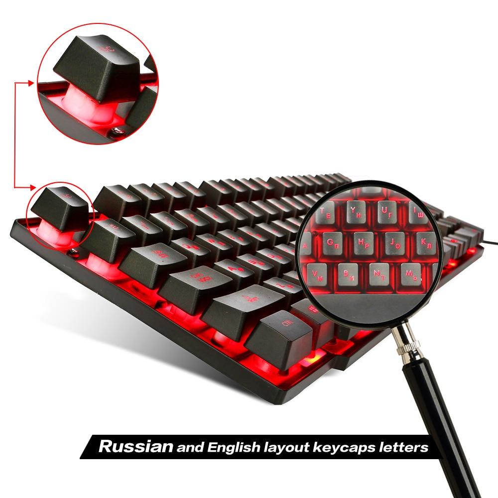 HXSJ R8 Russian English Gaming Keyboard Floating LED 3