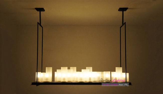 free shipping modern small size 70cm length kevin reilly altar france country style candle ceiling lights candle pendant lighting