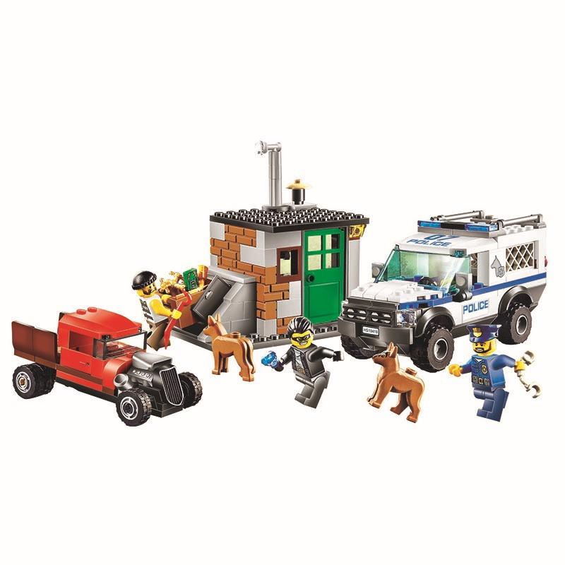 BELA 10419 City Police Dog Unit Figure Blocks Educational Construction Building Bricks Figure Toys For Children Compatible Legoe compatible lepin city block police dog unit 60045 building bricks bela 10419 policeman toys for children 011