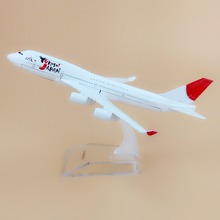 Alloy Metal Air JAL YOKOSO JAPAN B747 Airlines Airplane Model YOKOSO Boeing 747 Airways Plane Model Aircraft Kids Gifts 16cm