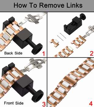 Ceramic + Stainless Steel Watchband for 38mm 42mm iWatch Apple Watch Sport Edittion Butterfly Buckle Band Wrist Strap Bracelet