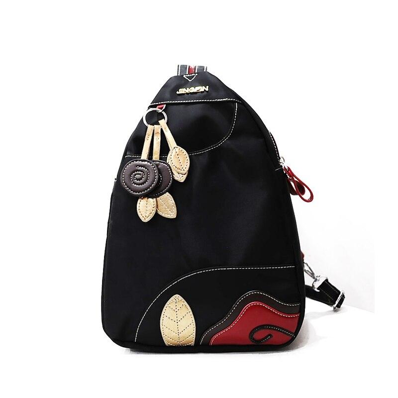 2016 National Style Women Backpack Waterproof Nylon Ladies Packbag High Quality Oxford Female Rucksack Black Red Blue Women Bag aosimanni 5 packbag asmk