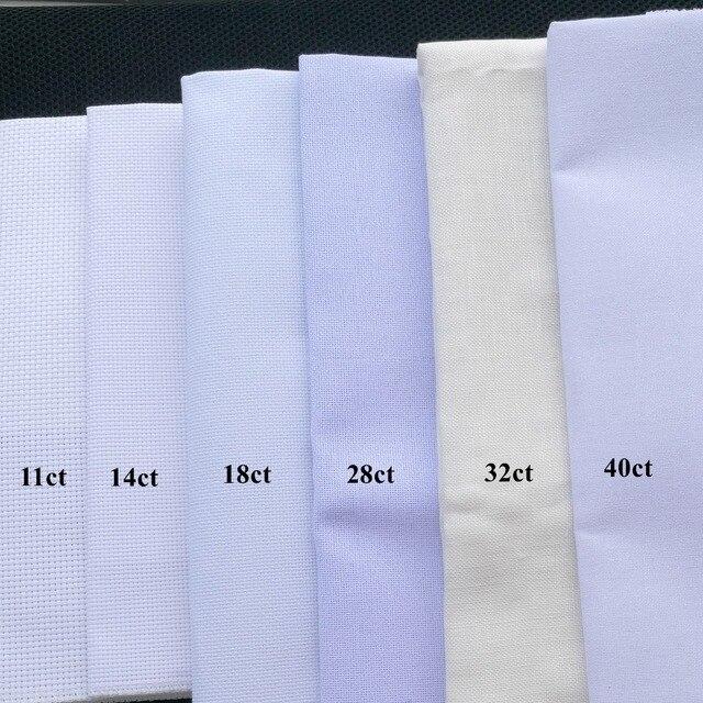 25x25 см канва 18ct 28ct 40ct вышивки крестом ткань холст небольшой сетки белый цвет DIY рукоделие поставки шить вышивка