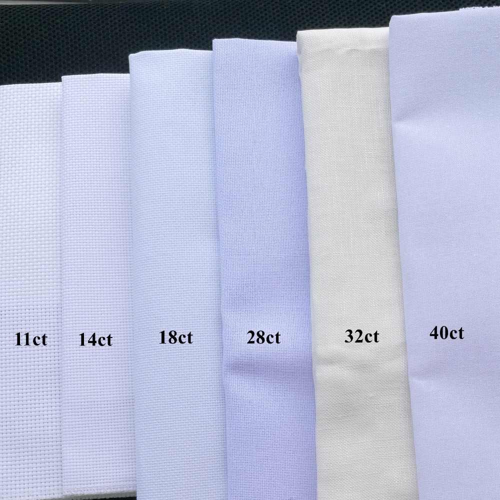 25x25cm tela Aída 18ct 28ct 40ct Cruz tela lona pequeña rejilla color blanco DIY artesanía suministros bordado