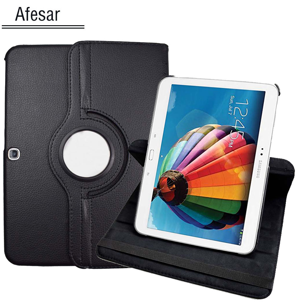 GT-P5200 <font><b>P5210</b></font> P5220 Flip Folio Rotating stand <font><b>Case</b></font> Cover for Samsung Galaxy Tab 3 10.1 Tablet Auto Sleep/Wake pu leather <font><b>case</b></font> image