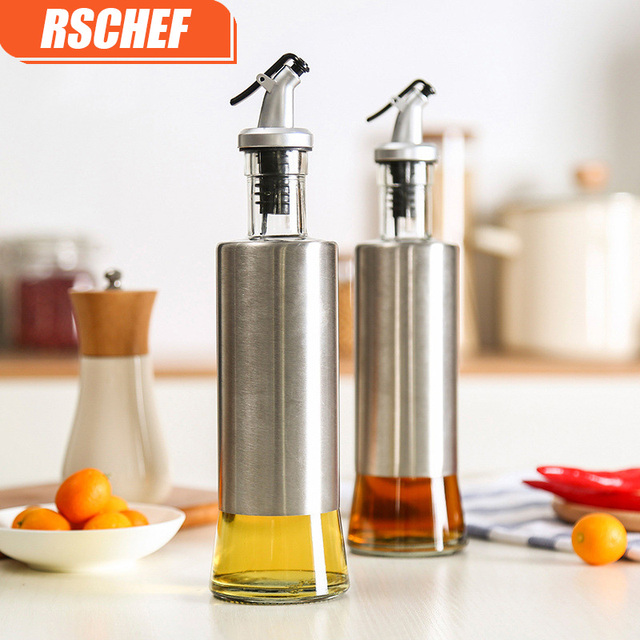 Delicieux 1pcs 300ML Stainless Steel Leak Proof Oil Dispenser Bottle Oil Pot Olive Oil  Vinegar Sauce Kitchen