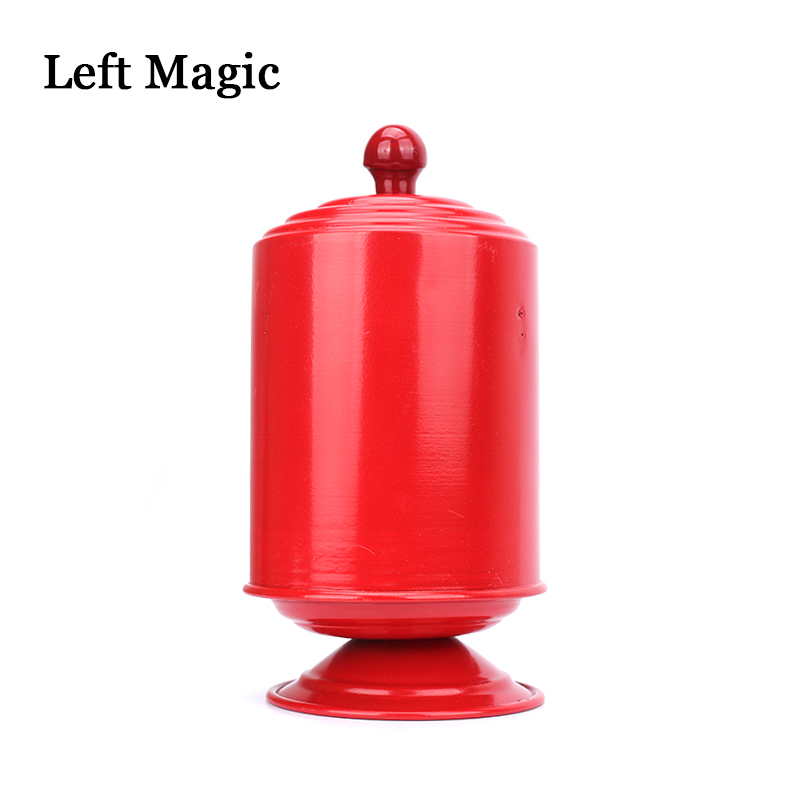 Vertical Fire Dove Pan Double Load Magic Tricks Red Double Layer Stage Magic Appearing Tricks Illusion Accessories