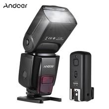 Andoer ad560 iv 2.4g sem fio universal na câmera slave speedlite flash luz gn50 w/flash gatilho para canon nikon sony a7 dslr