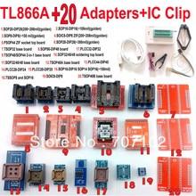 TL866A programmer +20 adapters + IC CLAMP USB Universal TL866 AVR PIC Bios 51 MCU Flash EPROM Programmer  Russian English manual