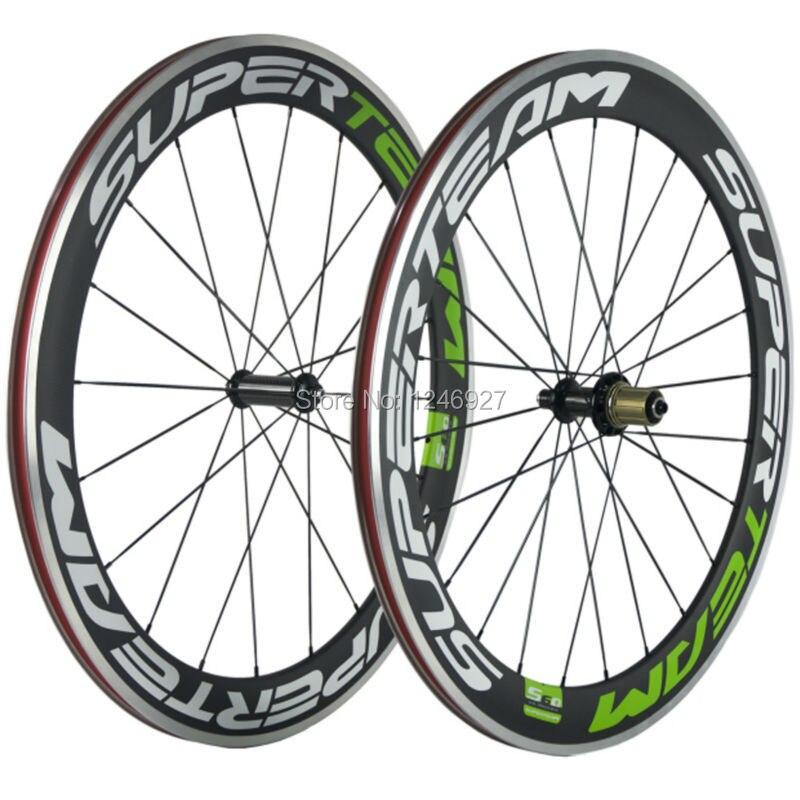 60mm Carbon Wheels Clincher With Alloy Brake Surface R36 Hub Road Bike Carbon Wheelset Aluminum Braking Surface