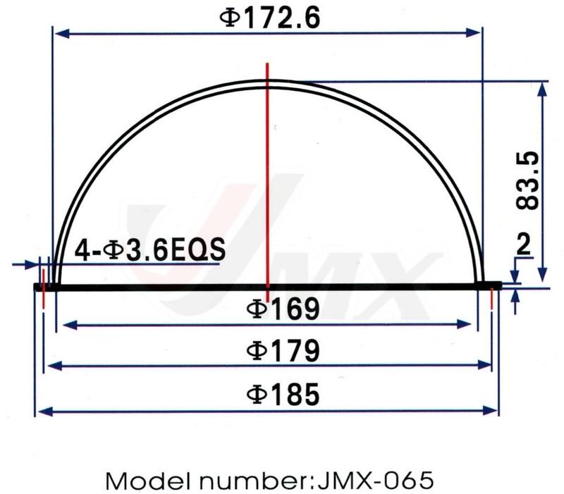 JMX 6,5-ZOLL-Acryl-CCTV-Ersatz für Innen- und Außenbereiche - Schutz und Sicherheit - Foto 2
