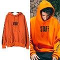 European style Canada justin bieber Purpose Tour orange warm hooded men and women sweatshirt hoodies clothing