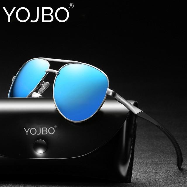 9497d51802 YOJBO Pilot Sunglasses Men Polarized Sport Driving Sun Glasses Mens Brand  Designer Pilot Vintage Mirror Oversized Black Shades