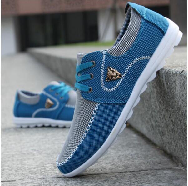 2016 nouvelles chaussures hommes Chaussures casual toile chaussures pour  hommes à lacets Respirant mode printemps automne Appartements pu En Cuir  mode suede ... 7239b5d0272
