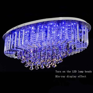 Image 4 - Top selling special price 100% guaranteed large modern brief ceiling crystal chandelier, crystal lighting for living room hall