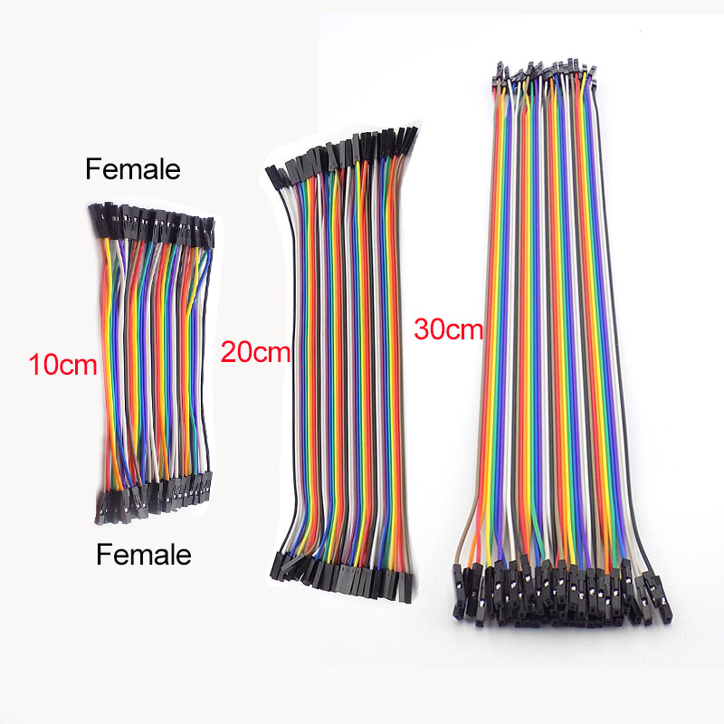 Jumper Wire 10/20/30cm 40PIN Female To Female Pin Connecting LineBreadboard Cables Eclectic Jumper Cable For Arduino DIY Kit