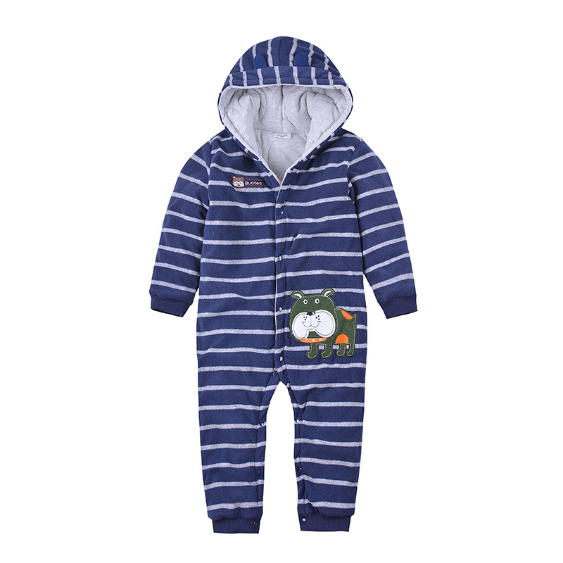 Autumn/Winter Baby Romper New Born Baby Thick Ropa Baby Boys Long-Sleeve Fleece Jumpsuit Warm Clothes For  Little Kids