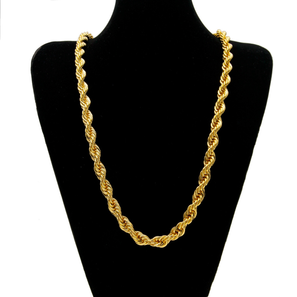 Aliexpress.com : Buy Hip Hop Thick Rope Chain Yellow Gold