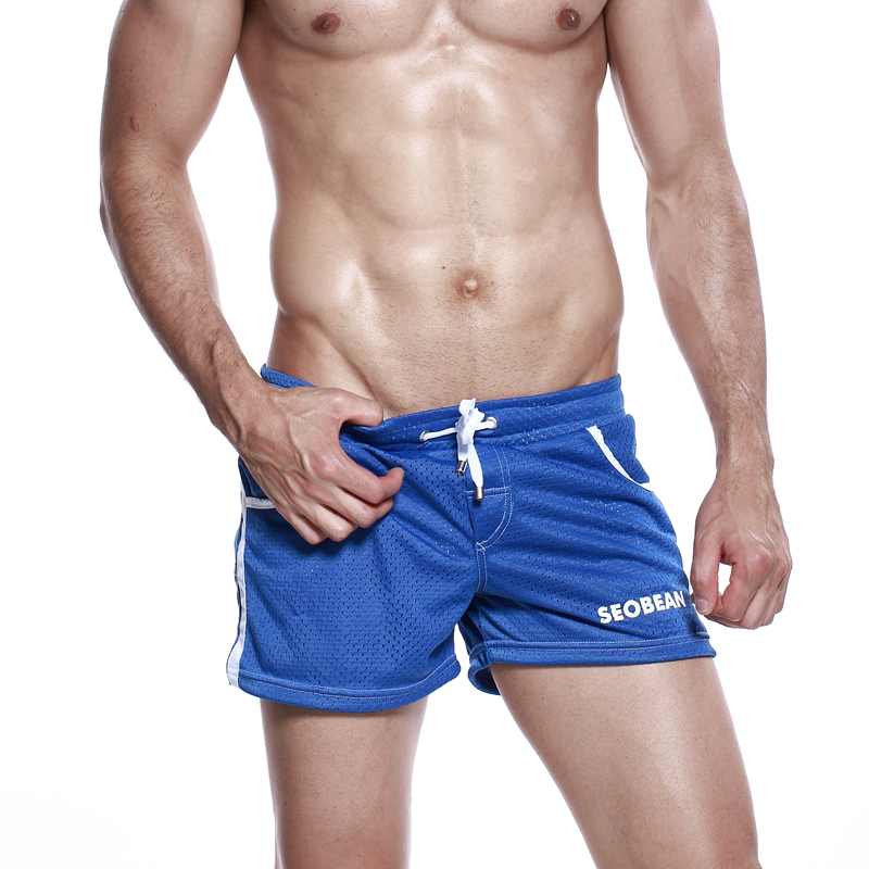 Mesh Lining Shorts Seobean Men's gym shorts mens jogger Pocket fishnet casual summer beach Small  shorts Pantalon playa hombres