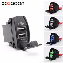 XCGaoon Universal USB Interface Socket Charger Adapter 3.1A Dual USB Car Charger For iPhone / Samsung fit Honda Toyota Nissan