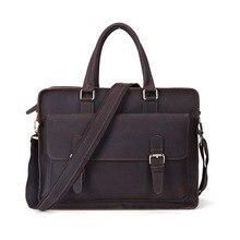 Европа и соединенные Штаты моды сумасшедший кожаный портфель мужской отдых бизнес мужская кожаная сумка кожаная сумка
