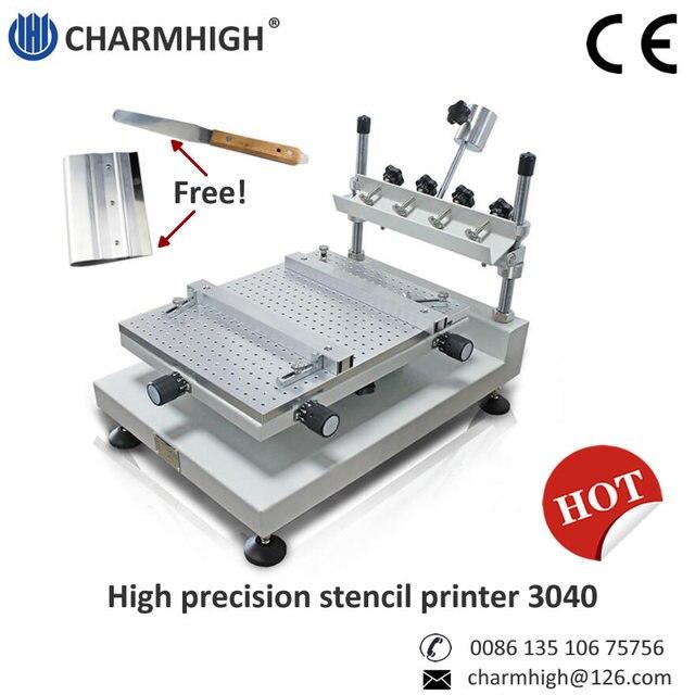 Ücretsiz kargo Yüksek Hassasiyetli 3040 şablon yazıcı/SMT Manuel Lehim Pastası Yazıcı 3040 Charmhigh