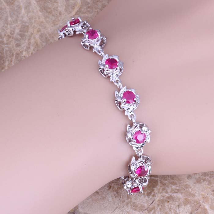 Gleaming Red Cubic Zirconia...